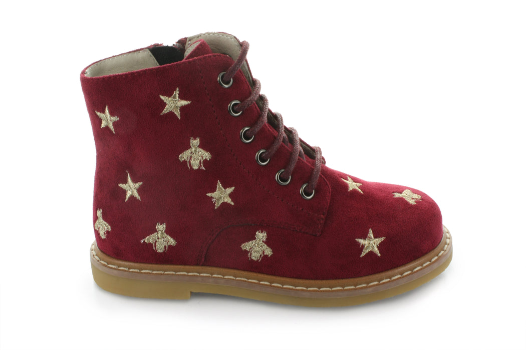 Junipers Star Lace Boot - Red