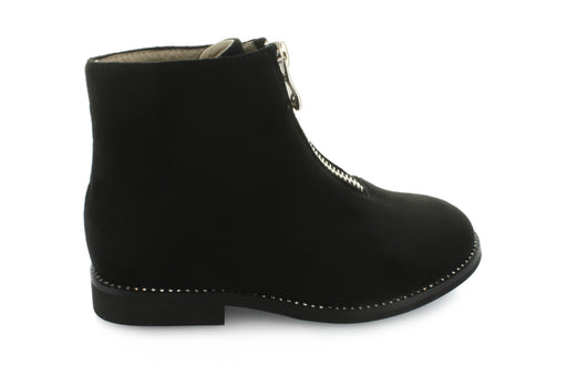 Luna's Zipper Boot - Black