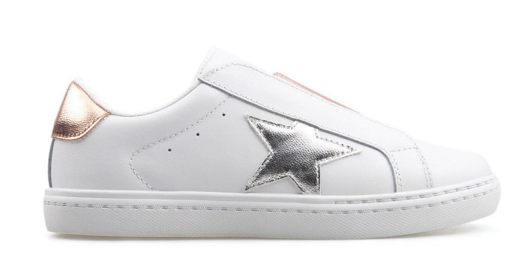 Hayden's Star Slip On Sneaker - White