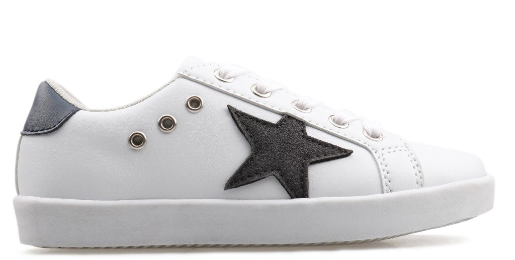 Mia Star Lace Sneaker - White/Black