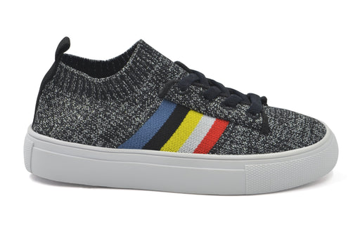 Sams Knit Rainbow Sock Sneaker - Black