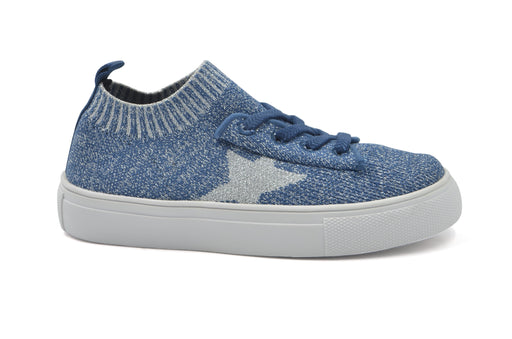 Kelly Star Knit Sock Sneaker - Blue