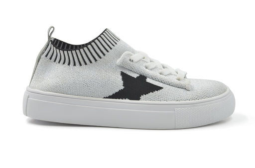 Kelly Star Knit Sock Sneaker - Silver