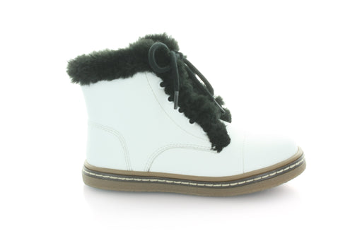 Aubrey's Fur Lace Boot - White