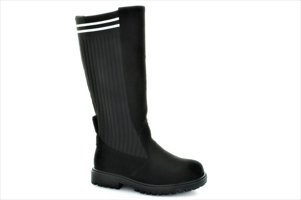 Paige's Tall Knit Boot - Black Velvet