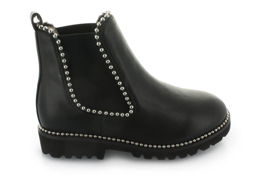 Victoria's Double Gore Studded Boot - Black