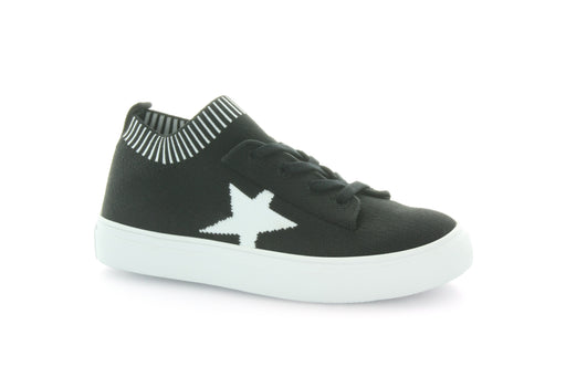 Kelly Star Knit Sock Sneaker - Black