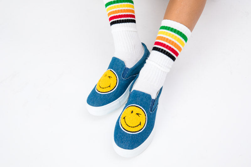 Jamie Emoji Slip On Sneaker  - Denim
