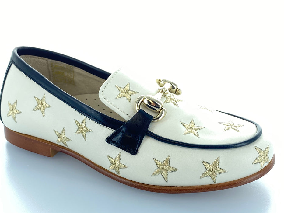Mila's Chain Embroidered Star Loafer