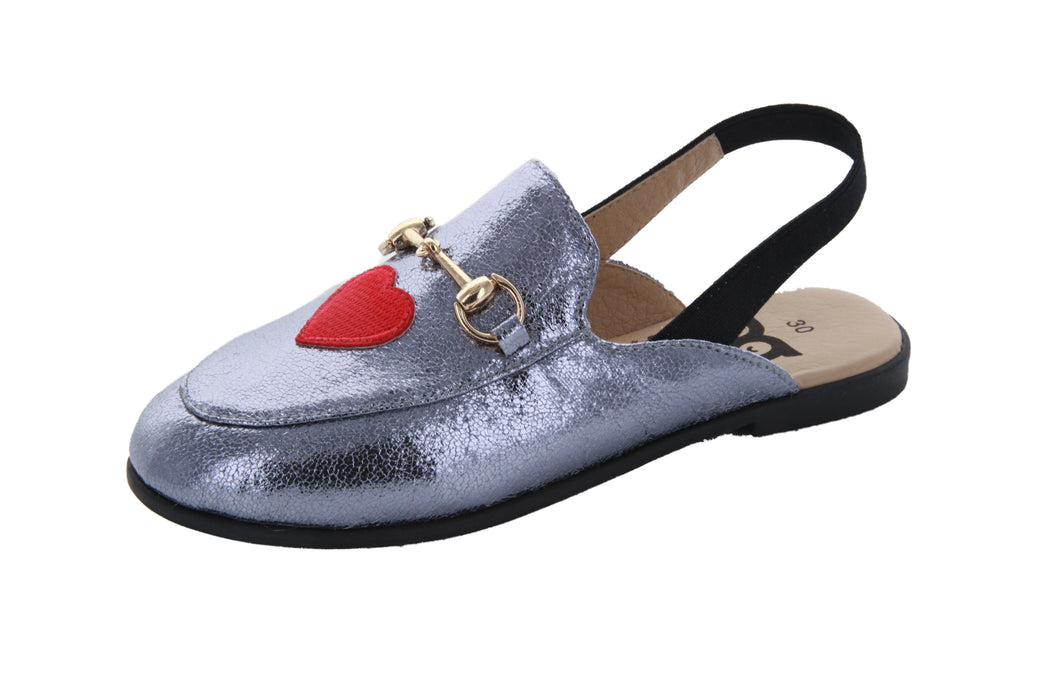 Dee's Mules - Pewter Metallic