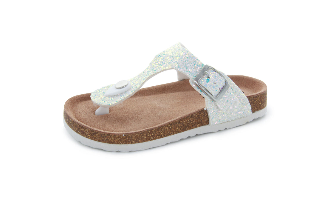 Alice Buckle Thong Sandal - Holo Glitter