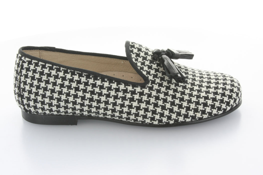 Sebastion's Tassle Loafer - Houndstooth