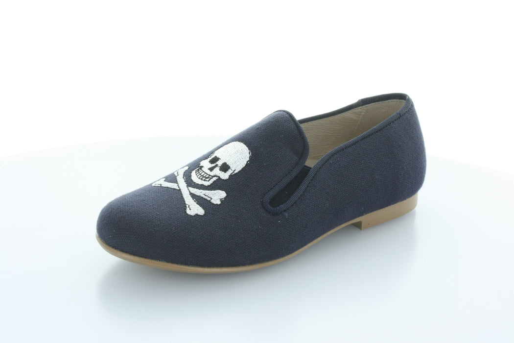 Dan-Dan Skull Smoking Shoe - Navy