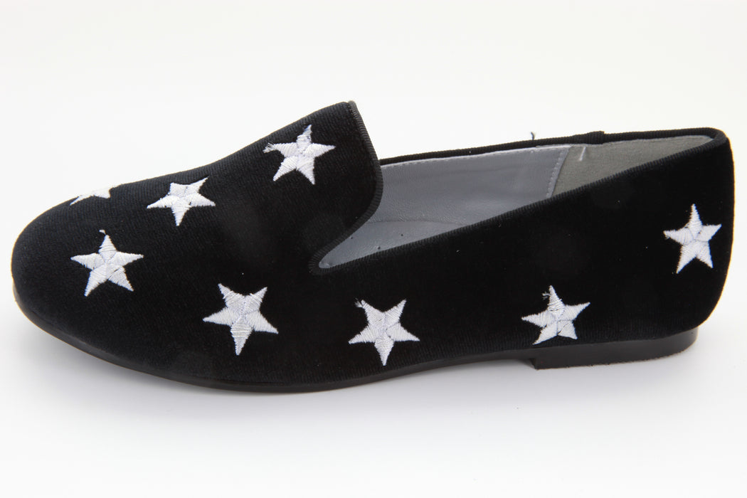 Star Smoking Flat - Black Velvet / Pewter Star