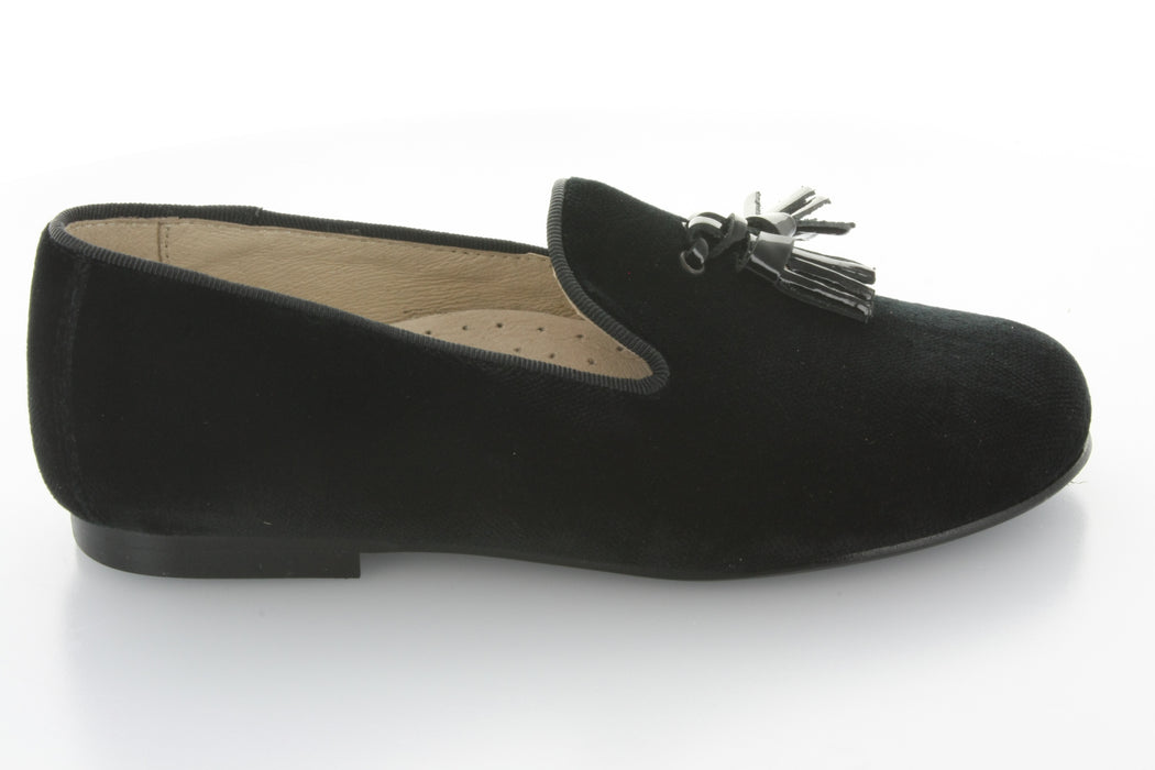Sebastion's Tassel Loafer - Black Velvet