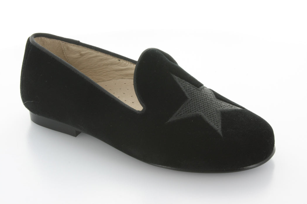 Esther Star Smoking Shoe - Black