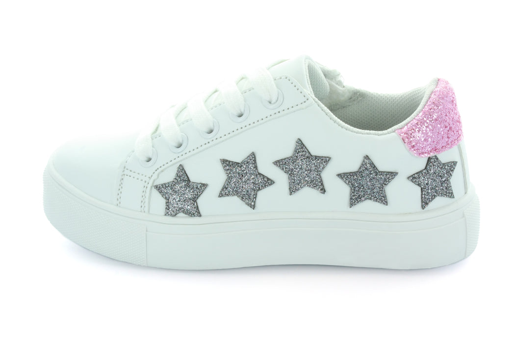 Lily Starry Lace Sneaker - White