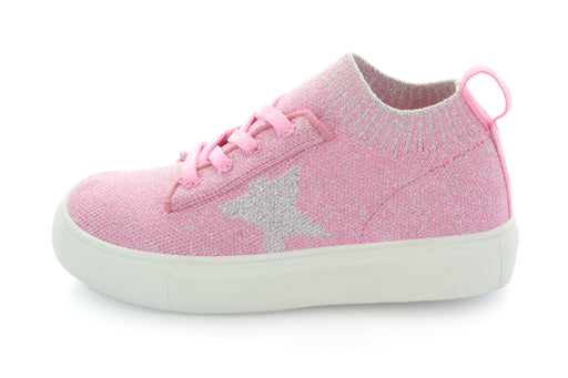 Kelly Star Knit Sock Sneaker - Pink