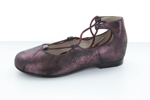 Chelia's Lace-Up Ballet - Burgundy