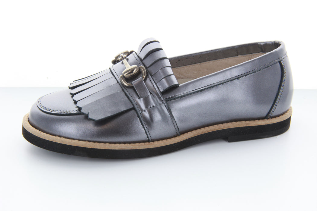 Mark's Chain/Fringe Loafer - Pewter Metallic