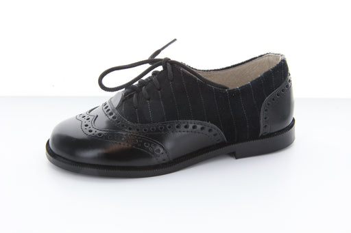Abe's WingTip - Black / Grey Velvet