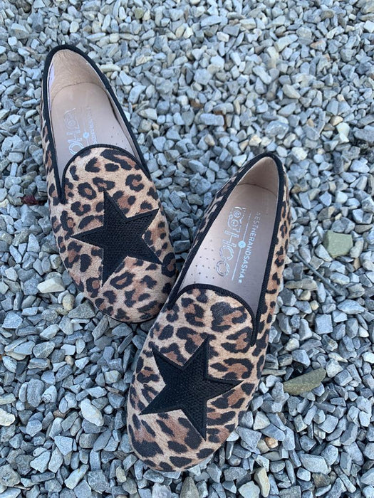 Esther Star Smoking Shoe- Leopard