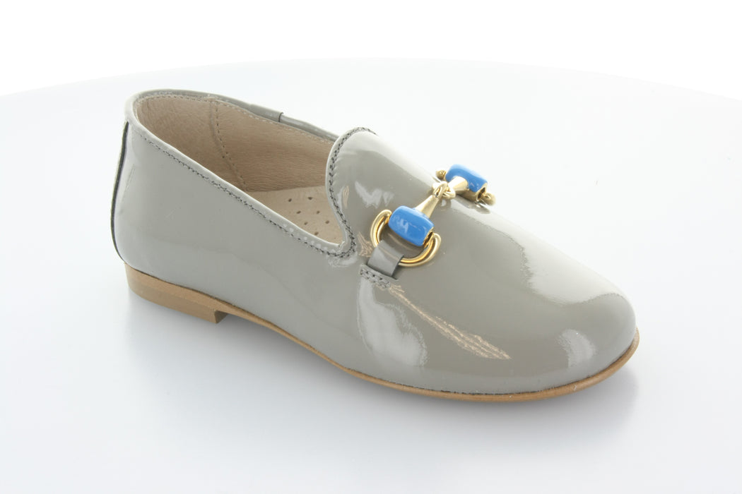 Abby's chain Smoking Shoe - Grey Patent