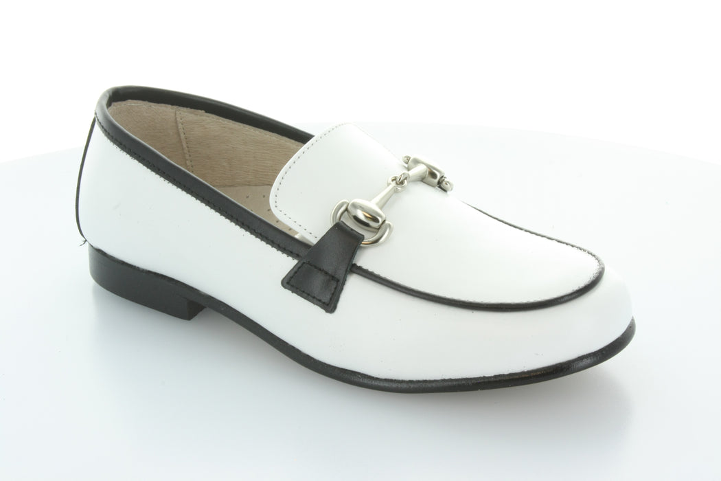 Mila's Chain Loafer  - White - Black