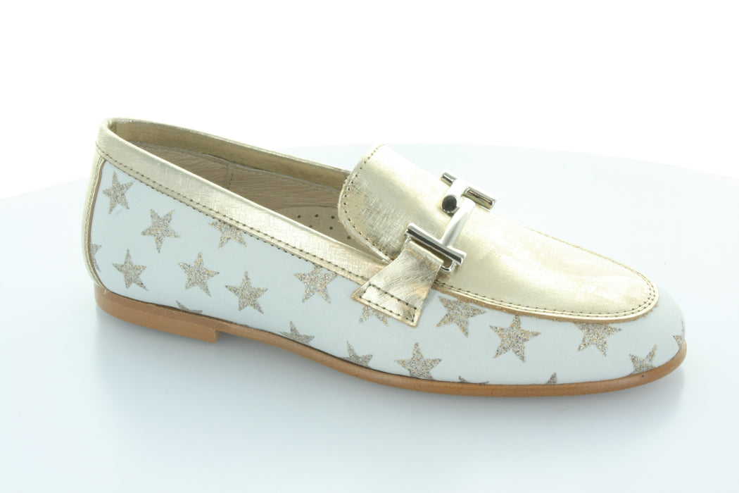 Lea's Chain Slip-On  - Star Print - Gold Metalic