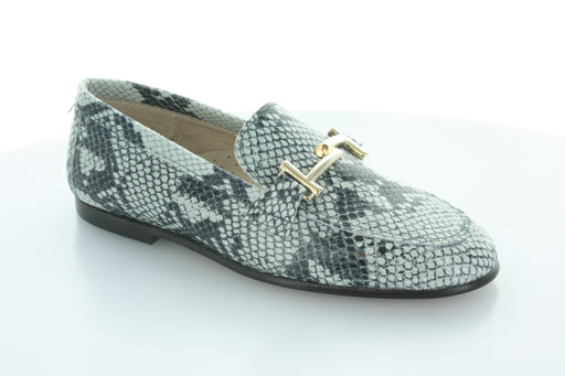 Lea's Chain Slip-On  - White/Black Snake
