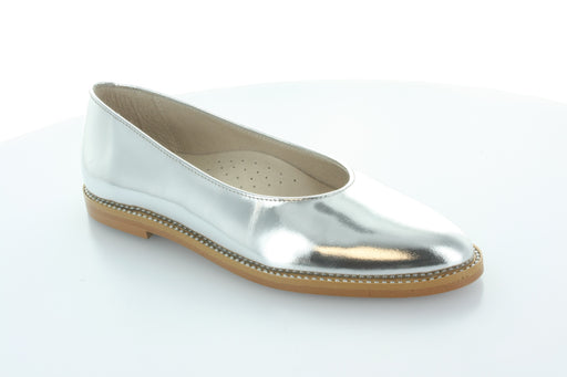 Dara's Pointed Ballet Slip-on  - Silver Metalic