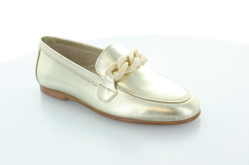 Lisa's Chain Loafer  - Gold Metalic - Cream
