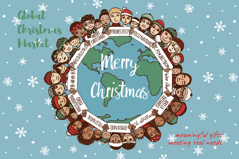 "GIFT Postcard - ""WORLD WREATH"""