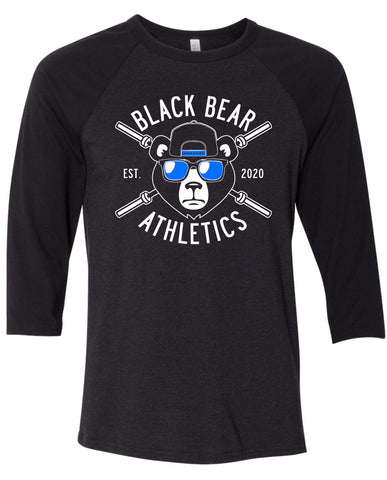 Black Bear Barbell Unisex Raglan 3200