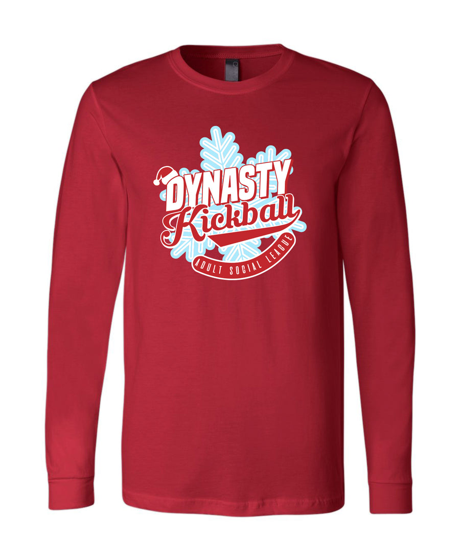 Dynasty Kickball Christmas Long Sleeve Tee 3501