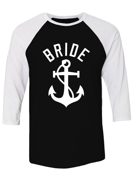 Manateez Nautical Bride Bachelorette Party Shirt Raglan