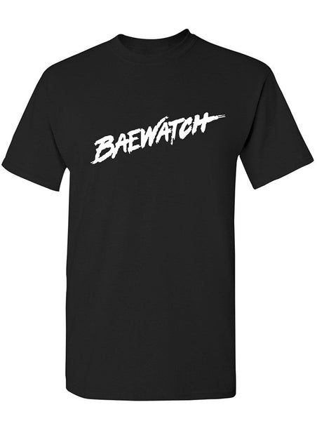 Manateez Men's Baywatch Lifeguard Design Baewatch Tee Shirt