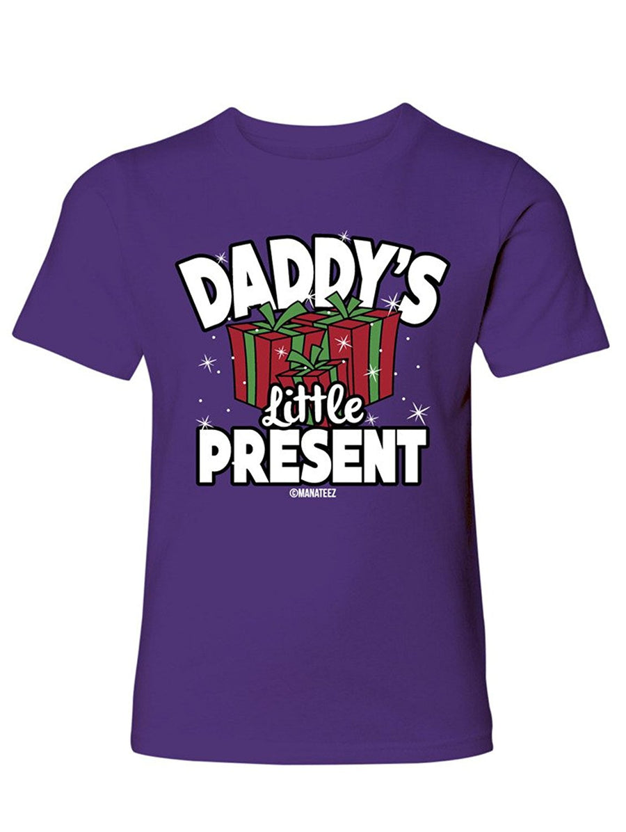 Manateez Boy's Daddy's Little Present Tee Shirt