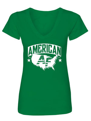 Manateez Women's Proud to Be American AF V-Neck