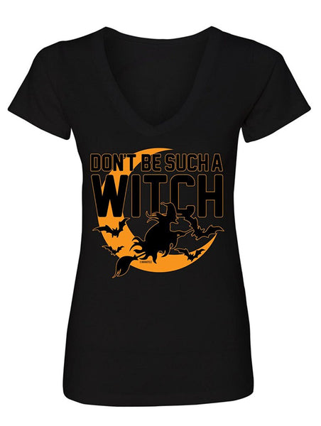 Manateez Women's Don't Be Such A Witch Halloween V-Neck