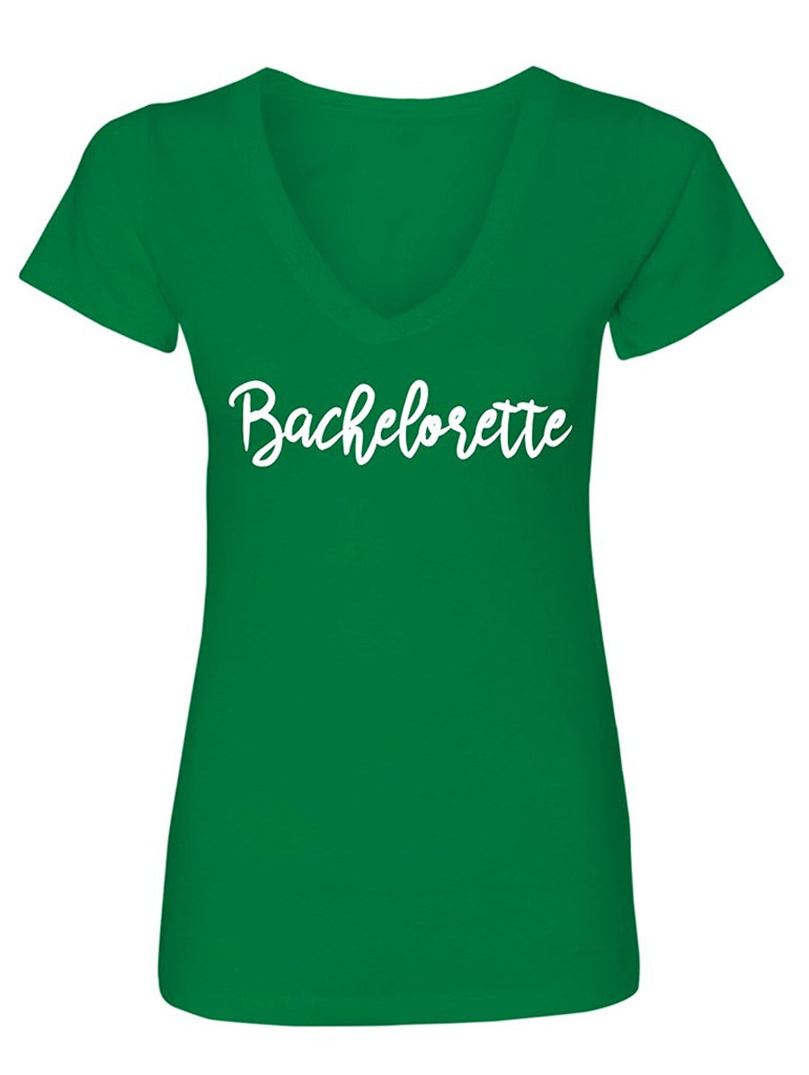 Manateez Women's Bachelorette V-Neck Tee Shirt