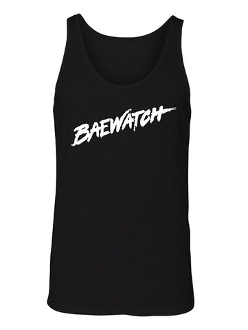 Manateez Men's Baywatch Lifeguard Design Baewatch Tank Top