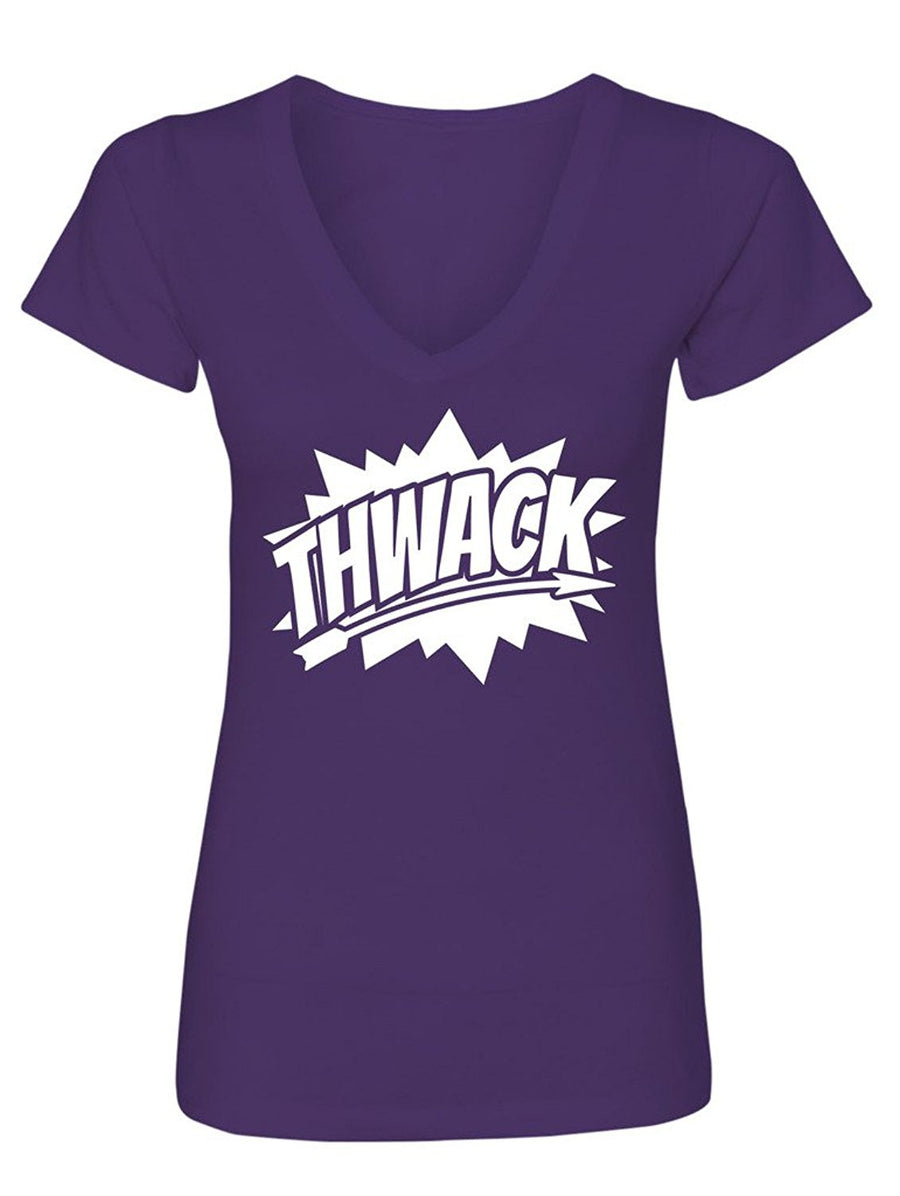 Manateez Women's Thwack Bow Hunting Graphic V-Neck