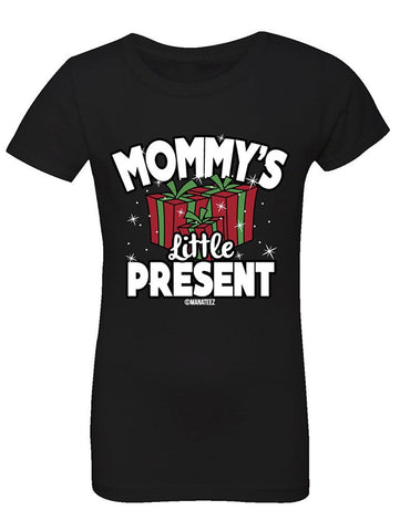 Manateez Girl's Mommy's Little Present Tee Shirt