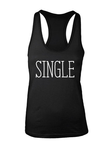 Manateez Women's Single on Valentine's Day Racer Back