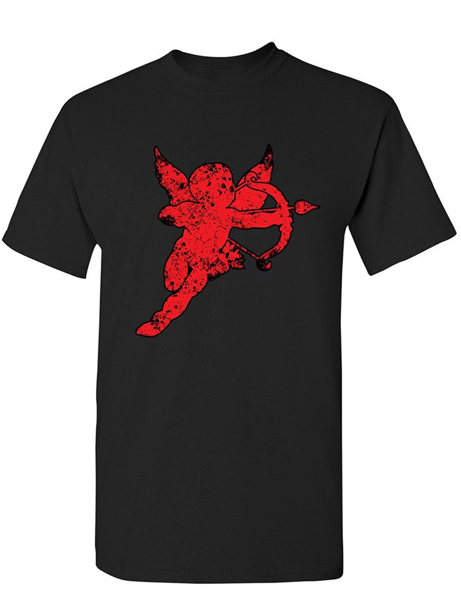Manateez Men's Cupid Red Silhouette Valentine's Day Tee Shirt