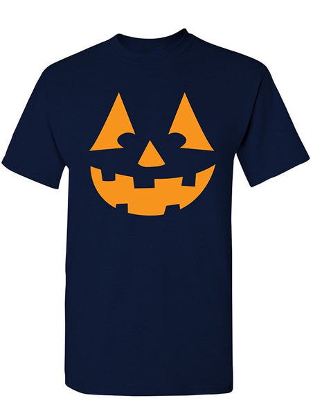 Manateez Men's Orange Jack O Lantern Tee Shirt