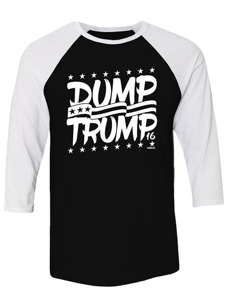 Manateez Dump Trump 2016 Election Raglan Tee Shirt