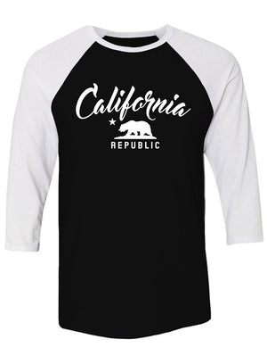 Manateez Raglan California Republic Tee Shirt