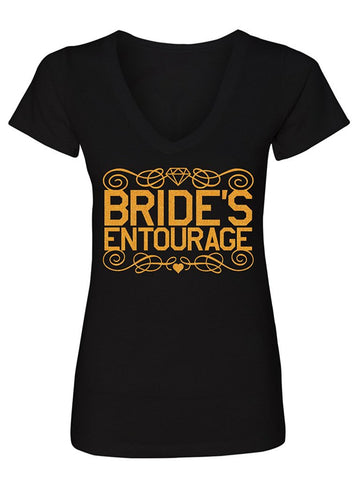 Manateez Women's Bride's Entourage V-Neck